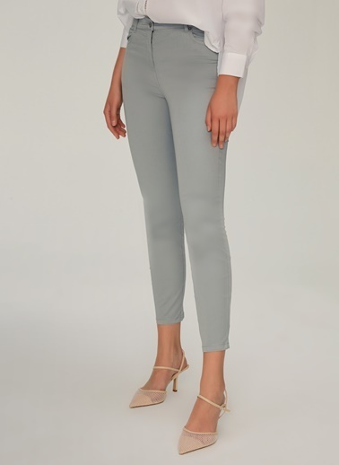 NGSTYLE Beş Cepli Skinny Pantolon Gri